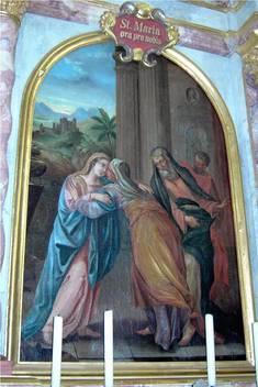 Altarblatt mit der Heimsuchung Mariens (19. Jahrhundert)
