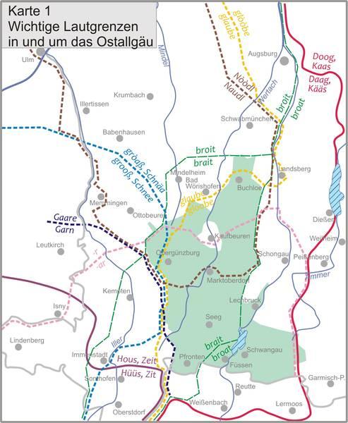 Landkreis Augsburg Karte.Schulbuch Landkreis Ostallgau Zur Dialektgeographie Im